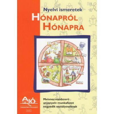 Nyelvi ismeretek HÓNAPRÓL HÓNAPRA Meixner-módszerű anyanyelv munkafüzet negyedik osztályosoknak.