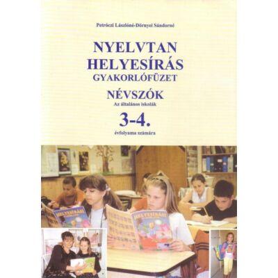 Nyelvtan helyesírás gyakorlófüzet – Névszók 3-4. osztály