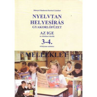 Nyelvtan helyesírás 3-4.o az ige 3-4. osztályosok számára - melléklet (csak a megoldás)