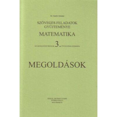 Szöveges feladatok gyűjteménye - matematika 3. évfolyam - megoldások