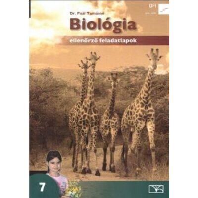 Biológia 7. - Ellenőrző feladatlapok