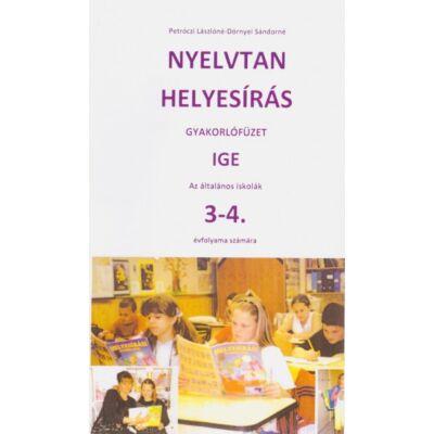 Nyelvtan helyesírás gyakorlófüzet 3-4. osztály – Ige